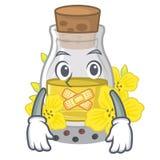 Молчаливое канола масло семени на мультфильме иллюстрация штока