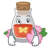 Молчаливое масло семени плода шиповника на талисмане бесплатная иллюстрация
