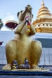Моля позолоченная статуя крысы Стоковая Фотография