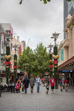 Мол улицы сена на рождестве Стоковая Фотография