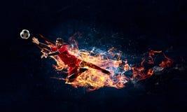 Моменты игры самые горячие Стоковое Изображение