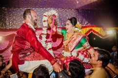 Моменты свадьбы стоковые фотографии rf