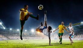 Моменты футбола самые лучшие Мультимедиа Стоковые Фотографии RF