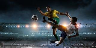 Моменты футбола самые лучшие Мультимедиа Стоковое фото RF
