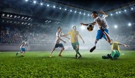 Моменты футбола самые лучшие Мультимедиа Стоковое Изображение RF
