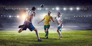Моменты футбола самые лучшие Мультимедиа Стоковая Фотография RF