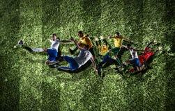 Моменты футбола самые лучшие стоковое изображение rf