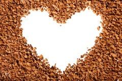 момент времени сердца зерен формы кофе Стоковое фото RF