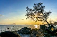 Момент захода солнца Стоковое фото RF