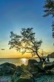 Момент захода солнца Стоковые Изображения