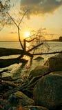 Момент захода солнца Стоковые Изображения RF