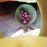 Момент массажа Стоковая Фотография RF
