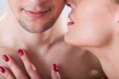 Момент любовников интимный Стоковое Изображение RF