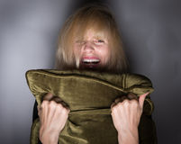 Момент Screeming страха Стоковые Фото