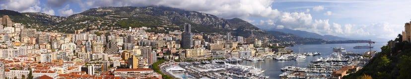 Монако панорамное Стоковые Изображения RF