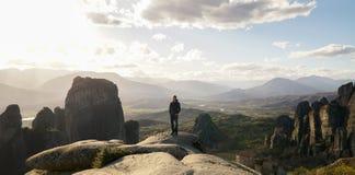 Монастыри утеса в Meteora, Греции стоковое фото rf
