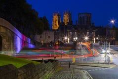 Монастырская церковь Йорка на сумраке Стоковое Изображение RF