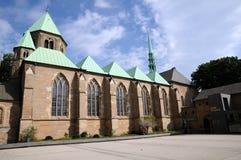 Монастырская церковь Эссена, южная сторона Стоковые Фото