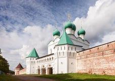 Монастырь Бориса и Gleb в зоне Ростова, России стоковые фото