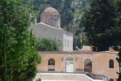 Монастырь в гористых местностях Кипра Стоковые Изображения