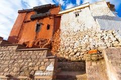 Монастырь в городе Leh Ladakh Стоковые Фото