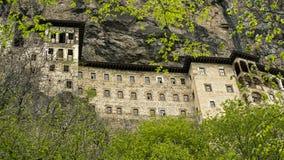 Монастырь в утесе Стоковые Изображения