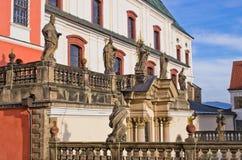 Монастырь в Broumov, чехии стоковое изображение