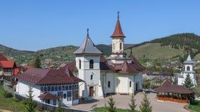 Монастырь в Mănăstirea Humorului, регионе Bucovina Румыния стоковые фотографии rf