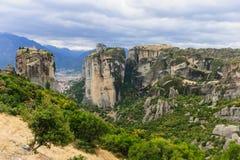 Монастырь в Meteora Стоковые Изображения