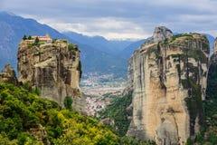 Монастырь в Meteora Стоковое Изображение RF