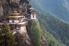 Монастырь гнезда тигров в Бутане Стоковое Изображение RF