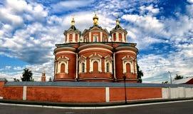 Монастырь женщины Uspensky Brusensky kolomna Россия Стоковая Фотография