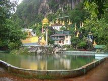 Монастырь и историческая пещера около Hpa Стоковые Изображения RF
