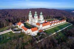 Монастырь и церковь Camaldolese в Bielany, Cracow, Польше Стоковые Фотографии RF