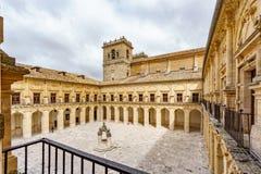 Монастырь монастыря Ucles широкоформатный стоковое фото