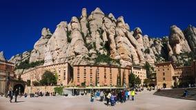 Монастырь Монтсеррата в Каталонии Стоковые Фотографии RF