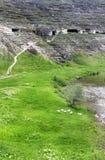 Монастырь пещеры в Молдавии, Orheiul Vechi Стоковое Изображение RF