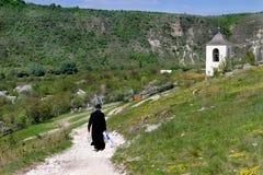 Монастырь пещеры в Молдавии, Orheiul Vechi стоковое фото rf