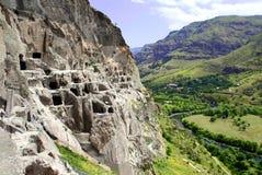 Монастырь пещеры Vardzia в горе трясет, Georgia Стоковое фото RF