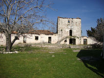Монастырь Святого Теодора, деревни Ilias, Албании Стоковое фото RF