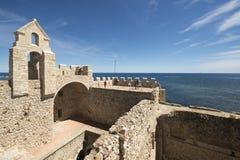 Монастырь Святого укрепленный Honorat, Франция стоковые фотографии rf