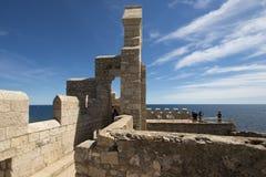 Монастырь Святого укрепленный Honorat, Франция стоковые изображения rf