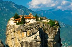 Монастырь святой троицы монастырей Meteora, Kalabaka, Греция стоковые изображения rf