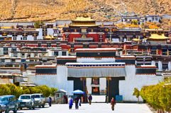 Монастырь сцены-Tashilhunpo тибетского плато стоковое фото rf