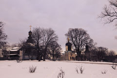 Монастырь троицы St Jonas в Киеве Стоковые Изображения RF