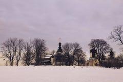 Монастырь троицы St Jonas в Киеве Стоковая Фотография