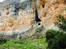 Монастырь утеса, Korinthos, Греция Стоковое Изображение RF