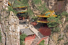 Монастырь Шани Heng в провинции Шаньси около Datong, Китая Стоковые Фотографии RF