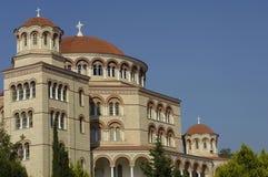 Монастырь Aghios Nektarios в острове Egine стоковое изображение rf