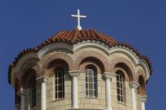 Монастырь Aghios Nektarios в острове Egine стоковые фотографии rf